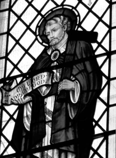 Stained glass, St Thomas