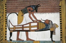 mural-depicting-god-anubis-and-the-mummification-of-the-dead